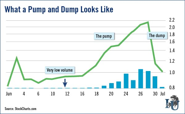 Pump and Dump Examples