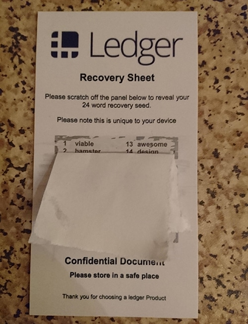 Recovery Seed Ledger Scam