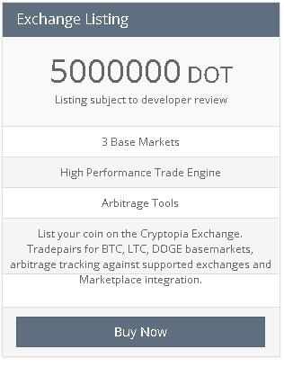 Adding New Coins at Cryptopia