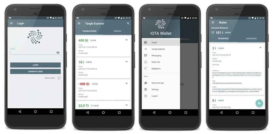 IOTA Android Mobile Wallet