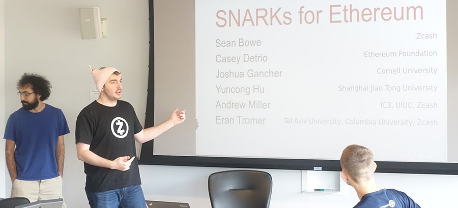 Ethereum use of zk-SNARKs