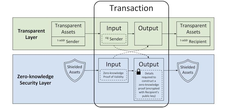 Transparent and Private Transactions
