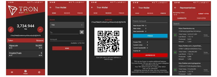 Tron Android Wallet