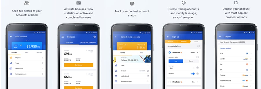OctaFX Mobile App for Account