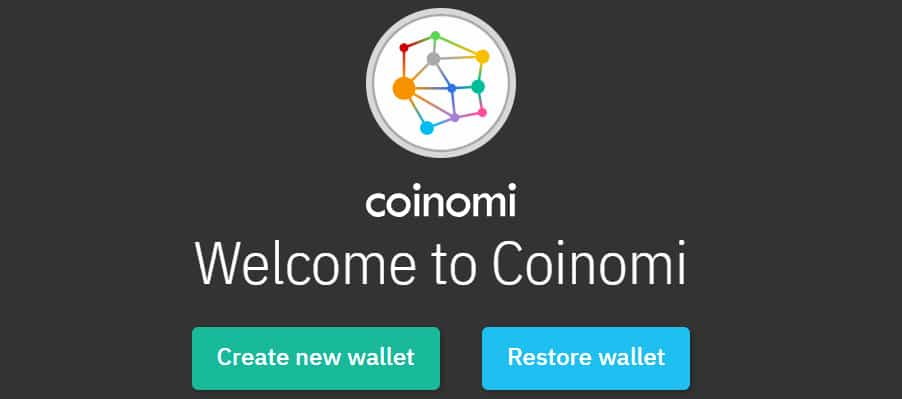 Creating New Wallet Coinomi