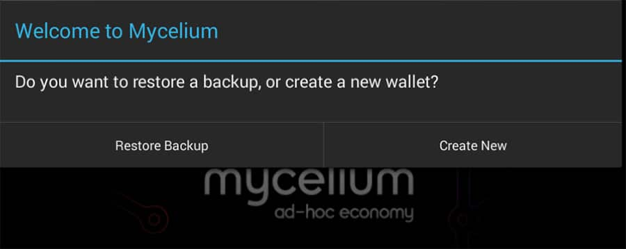 New Wallet MyCelium