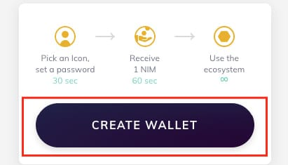 Creating a Nimiq Wallet