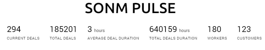 Current Network Stats SONM