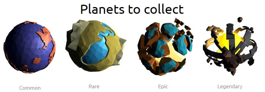 Planets to Collect 0xUniverse
