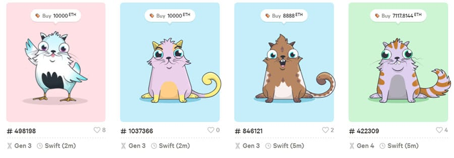 CryptoKitties Ethereum Dapp