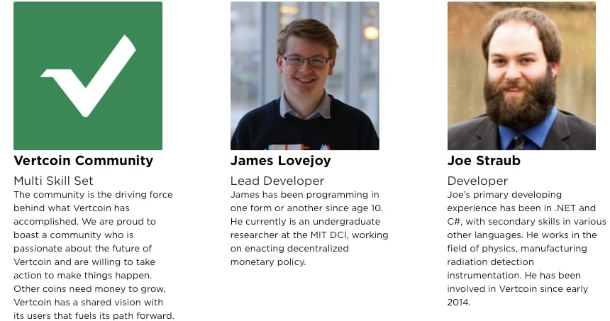 Vertcoin Team Members