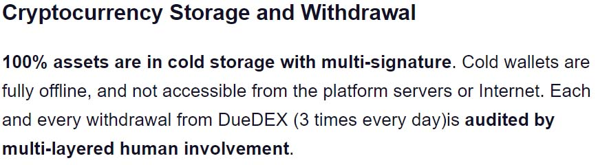 DueDex Coin Security
