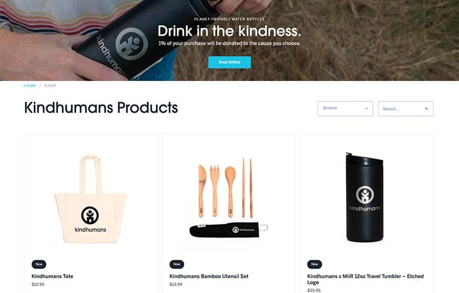 Kindhumans Items in Store