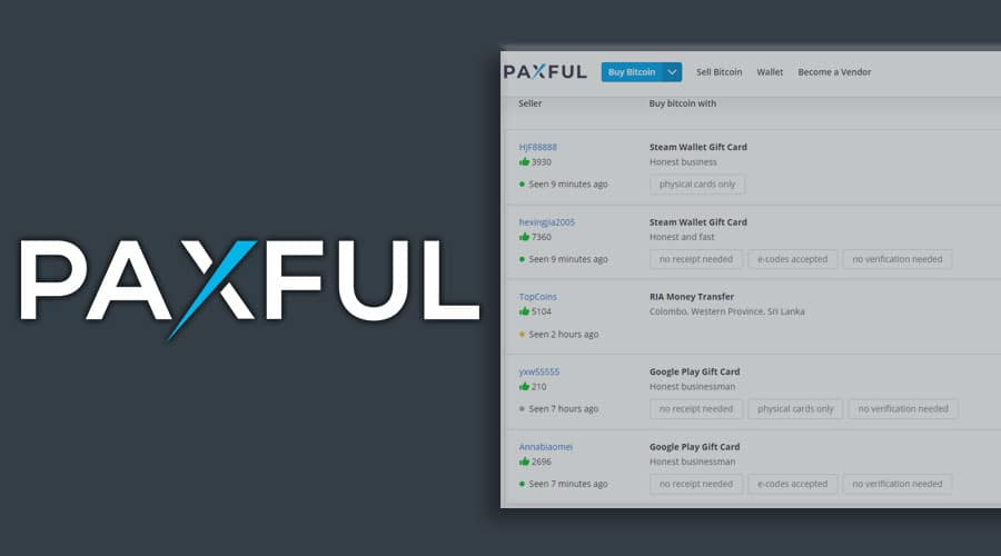 paxful bank transfer