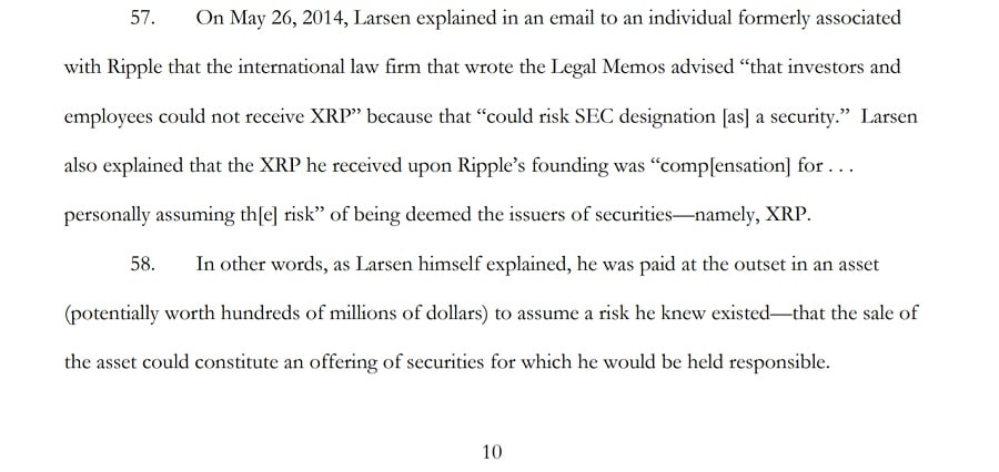 Ripple Lawsuit Email
