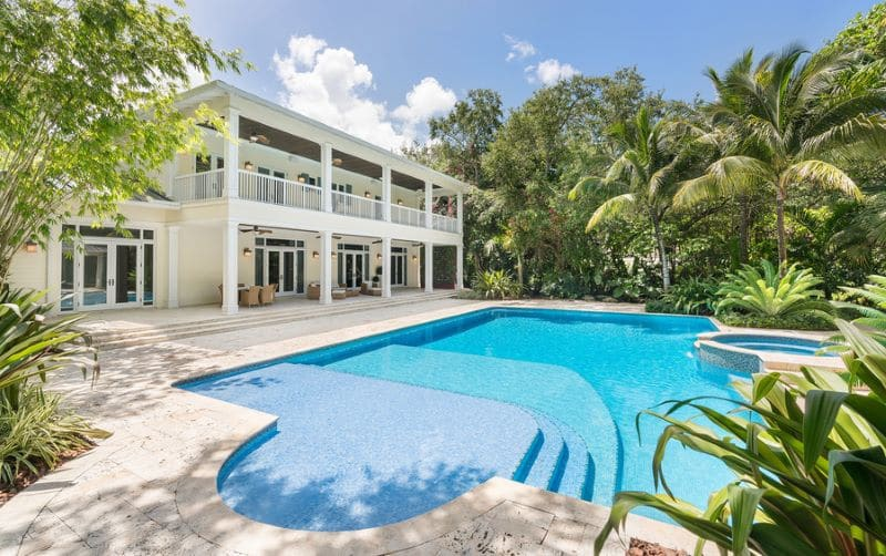 Miami Mansion and pool